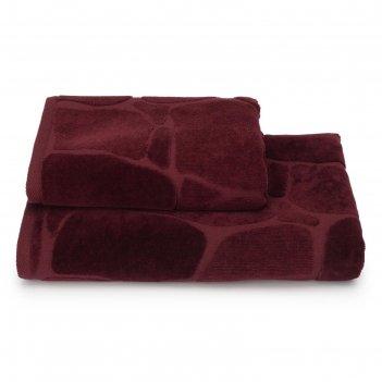 Полотенце махровое arenaria пцс-3501-4479 цв.19-1725 70х130 см, бордовый,