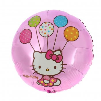 Шар фольгированный 18 hello kitty, street, круг