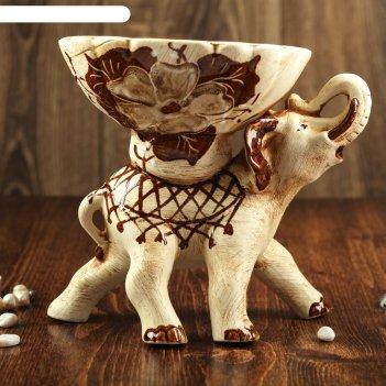 Слон-конфетница, шамот