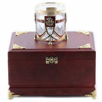 Бокал для виски георгий победоносец в деревянной шкатулке