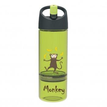 Детская бутылка 2в1 carl oscar monkey лайм
