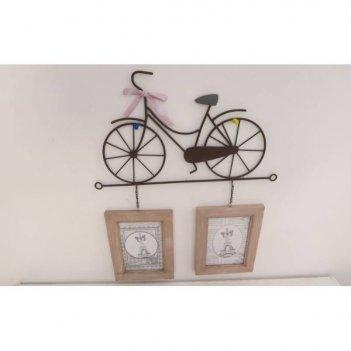 Фоторамка велосипед на 2 фото (10x15 см), l46 w1 h36 см