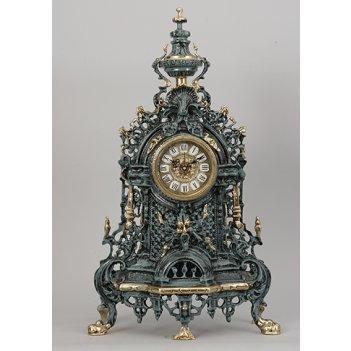 Часы из бронзы синие (58х34см)