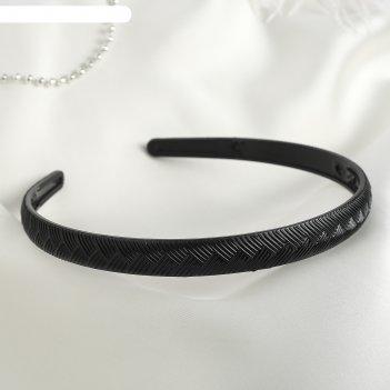 Ободок для волос ночка 1,2 см косичка, черный