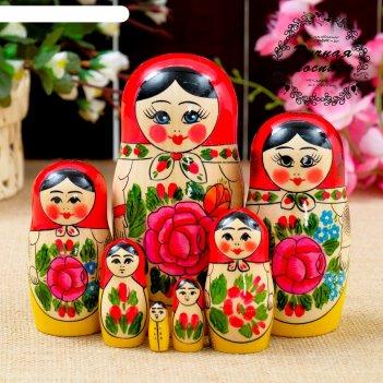 Матрёшка семёновская, 7 кукольная, 16х7 см