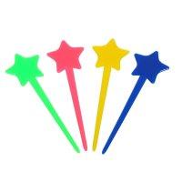 Шпажки для канапе звездочка цвета микс (набор 24 шт)
