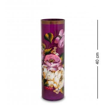 Vz-544 ваза стеклянная жостово h-400/120 (цилиндр)