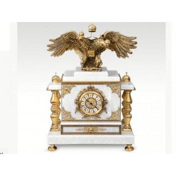 Часы-сейф из мрамора двуглавый орел(арт.с-027)