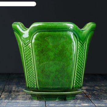 Кашпо готика зелёное 3,6 л