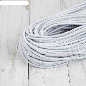 Резинка шляпная, 3,0 мм, 50±1 м, цвет белый
