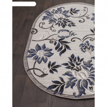 Овальный ковёр silver d353, 300x400 см, цвет gray