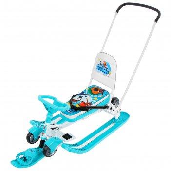 Снегокат тимка спорт 6 (тс6/мм1 ми-ми-мишки на бирюзовом)
