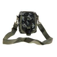 Сумка поясная милитари 1 отдел, 2 наружных кармана, цвет зеленый