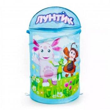 Корзина для игрушек лунтик 43х60х3 см xdp-17916-r