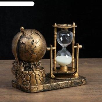 Часы песочные мир 16х9х14 см, микс