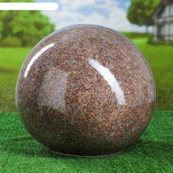 Садовый декор шар, серо-коричневый, 33 см
