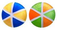 Мяч радость 35 см, в чехле, в ассорт.