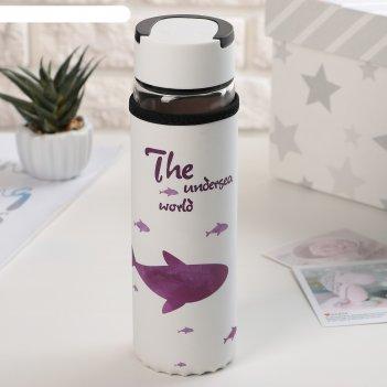 Бутылка с ручкой 500 мл кит, рисунок микс