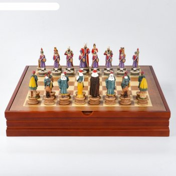 Шахматы сувенирные восточные (доска 36х36х6 см, h=8 см, h=6.5 см)