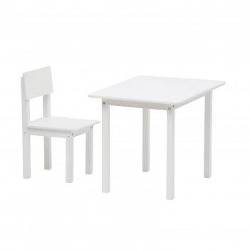 Комплект детской мебели polini kids simple 105 s, цвет белый