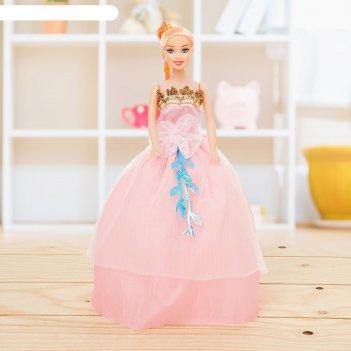 Кукла модель «оля» в пышном платье, микс