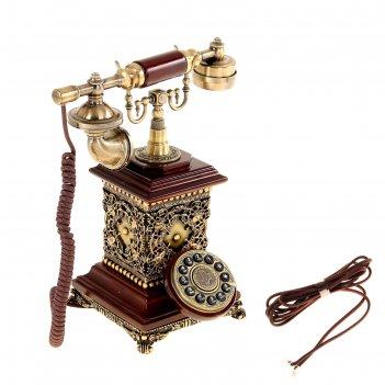 Ретротелефон, кованый барельеф, прямоугольный