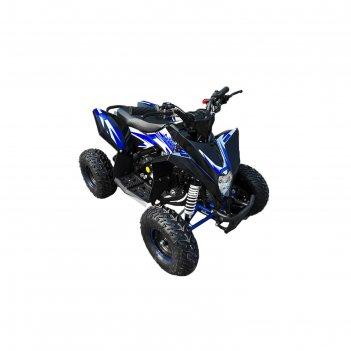 Детский квадроцикл бензиновый motax gekkon 70cc, черно-синий