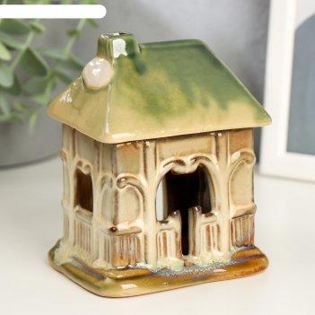 Аромалампа керамика домик-веранда микс 12х9,5х8 см