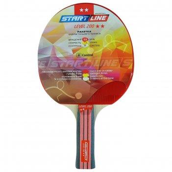 Ракетка для настольного тенниса start line level 200 с анатомической ручко