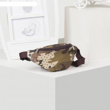 71051д сумка дет на пояс, 22*7*10, отдел на молнии, камуфляж