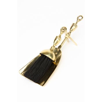 Аксессуар для камина (совок, метелка), 26х10,5 см