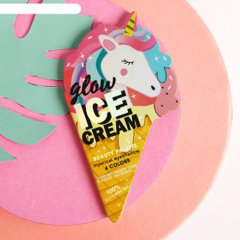 Палетка теней для глаз ice glow cream, 4 цвета