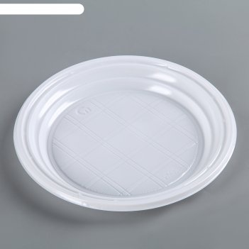 Тарелка десертная d=16.5 см, 3,2 г, цвет белый