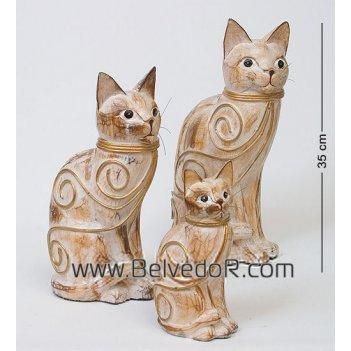 28-047 статуэтка кошка (35,30,20 см.), набор 3 шт.