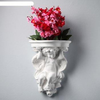 Декоративное кашпо ангел №4, 27 х 37 см, белый