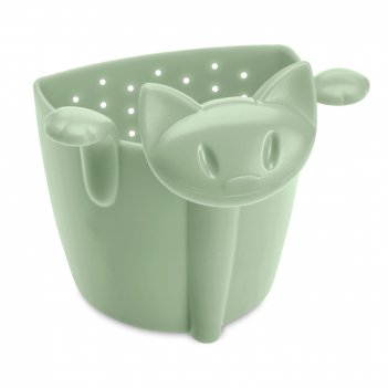 Ситечко для чая, размер: 7,5 х 6 см, материал: полипропилен, цвет: зеленый