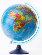Глобус земли политический рельефный 320 серия евро