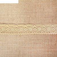 Кружево вязаное коса, ширина 3,5 см,15 м, цвет бежевый