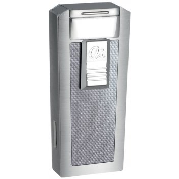 Зажигалка caseti газовая турбо для сигар, сплав цинка с сатино-хромовым