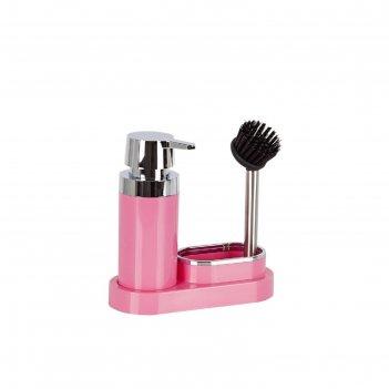 Дозатор для моющего средства polen, 20 х 8,5 х 19,5 см, цвет розовый
