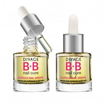Масло для кутикулы и ногтей питающее divage bb nail cure cuticle nail drop