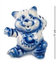 Гл-187 фигурка кот-плясун (гжельский фарфор)