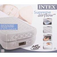 Кровать надувная двойная supreme twin с встроенным электронасосом 220v + с