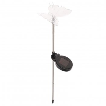 Светильник садовый на солнечных батареях tdm сс бабочка , сталь, меняет цв