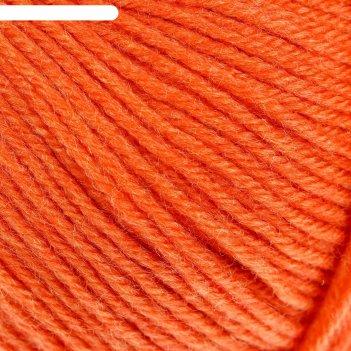 Пряжа детский каприз 50%мериносовая шерсть, 50% фибра 225м/50гр  (284-оран