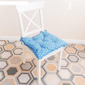 Подушка на стул, размер 45 x 45 см, принт кошечка
