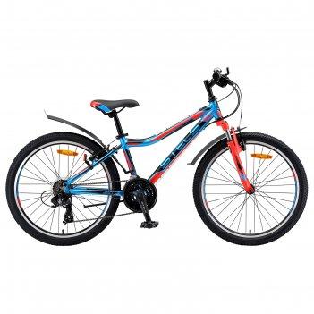 Велосипед 24 stels navigator-450 v, v010, цвет синий/красный/черный, разме