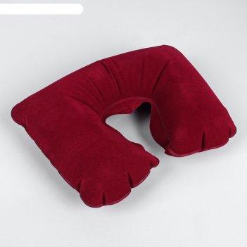 Подушка надувная для путешествий, цвет красный