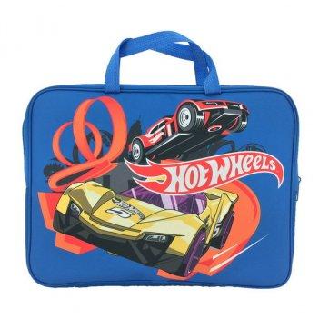 Папка-сумка hot wheels, с ручкой, формат а4, текстильная