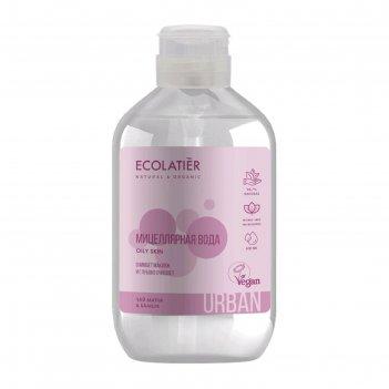 Мицеллярная вода для снятия макияжа ecolatier чай матча   бамбук, 400 мл